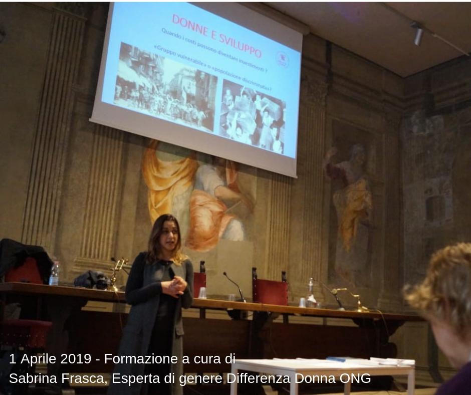 1 Aprile 2019 - Formazione a cura di Sabrina Frasca, Esperta di genere Differenza Donna